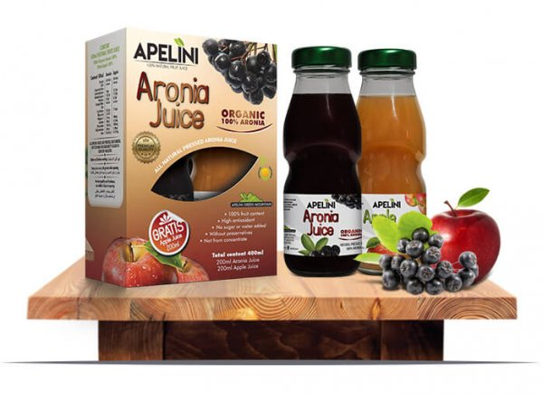 Aronia Juice 200ml (Gratis Apple Juice 200ml)