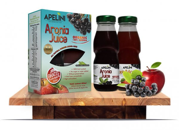 Aronia Juice 200ml (Gratis Aronia Apple Mix 200ml)