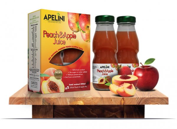 Peach & Apple Juice 400ml