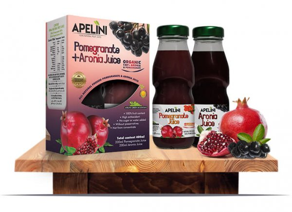 Pomegranate + Aronia Juice 400ml